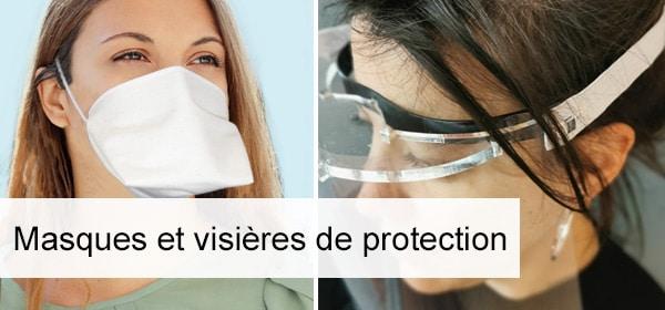 masques et visières de protection